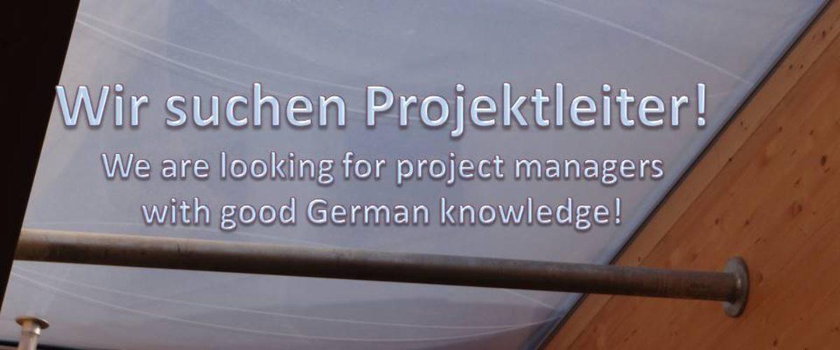 Wir Suchen Projektleiter